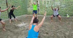 allenamento sabbia prato